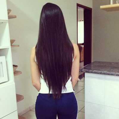 fotos de cabelo em v