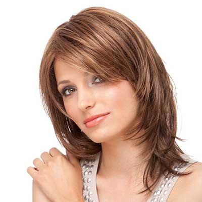 cortes de cabelo para rosto redondo castanho