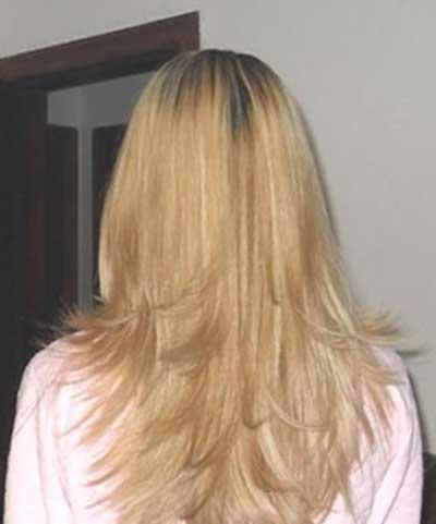 cabelo em v feminino