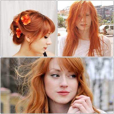 cor de cabelo ruivo
