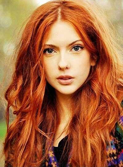 modelo de cabelo ruivo