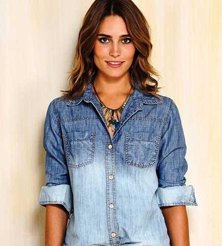 dfb265ac10 Como Usar Camisa Jeans Feminina  Fotos