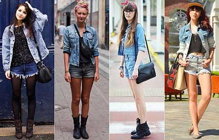 Modelos de Camisa Jeans Feminina