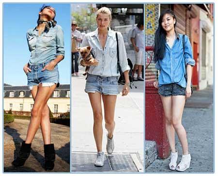 Fotos de Camisa Jeans Feminina