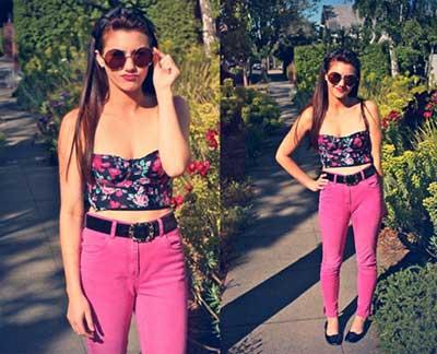 calça rosa feminina