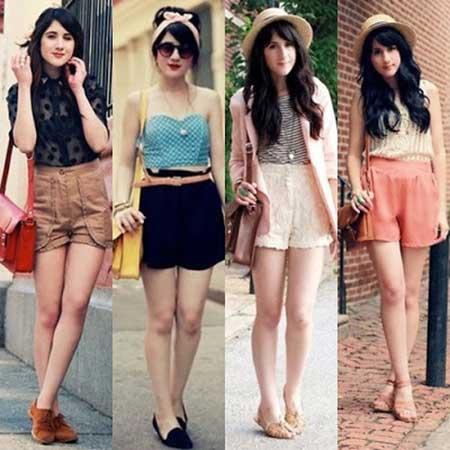 modelos de shorts com cintura alta
