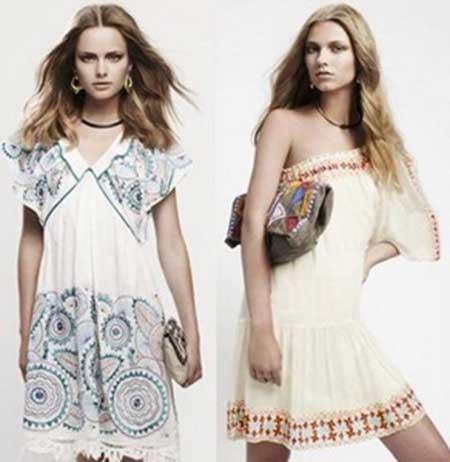 roupas da moda hippie