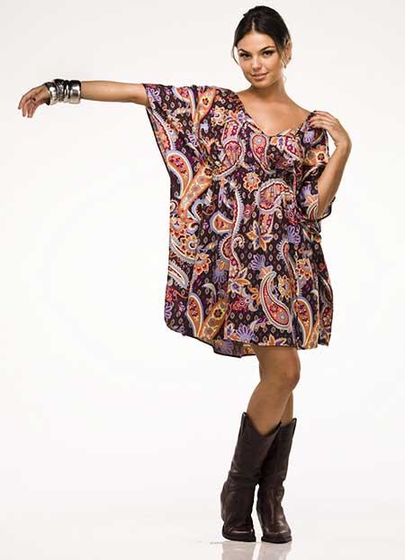 vestidos da moda hippie