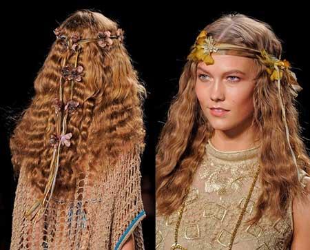 penteados hippies