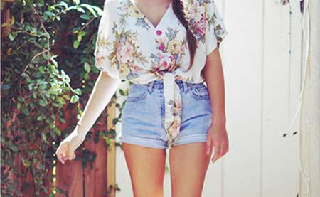 fotos de looks de shorts