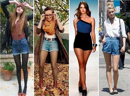 fotos de shorts com cintura alta
