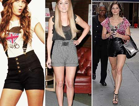 imagens de shorts com cintura alta