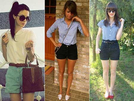 looks com shorts com cintura alta
