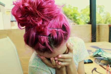 imagens de cabelos rosas