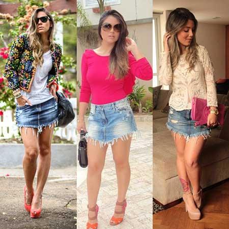 diversos modelos de shorts