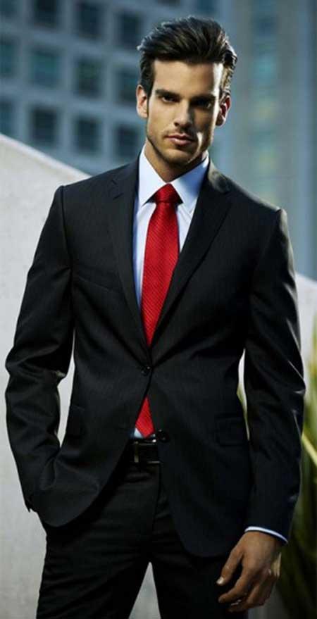 com gravata vermelha