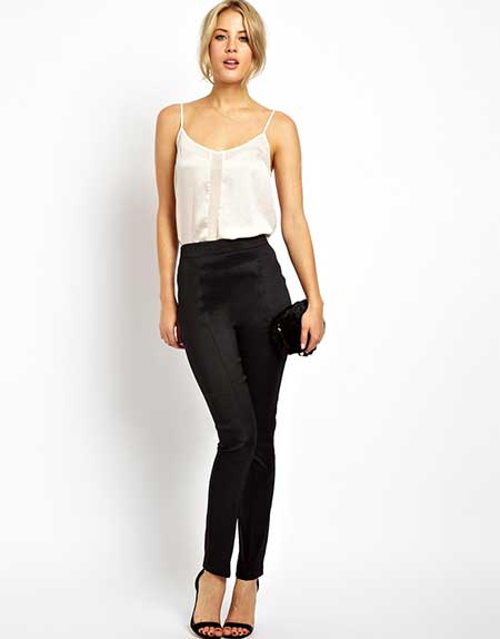 fotos de calças da cintura alta