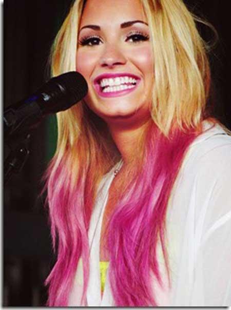 imagem de cabelo rosa