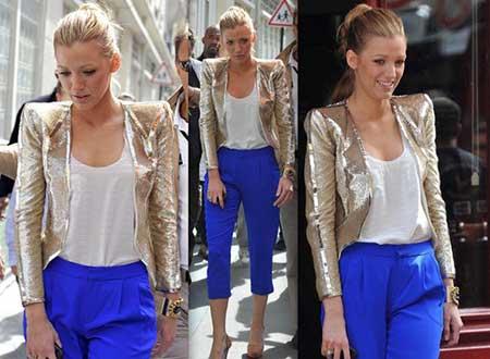 tendências de calça azul