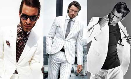 modelo de terno branco