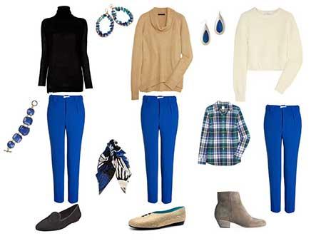 como usar calça azul