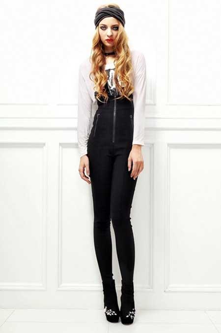 modelo de calça cintura alta