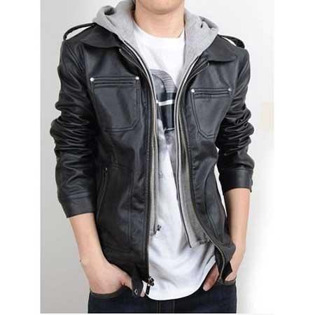 modelo de jaqueta de couro