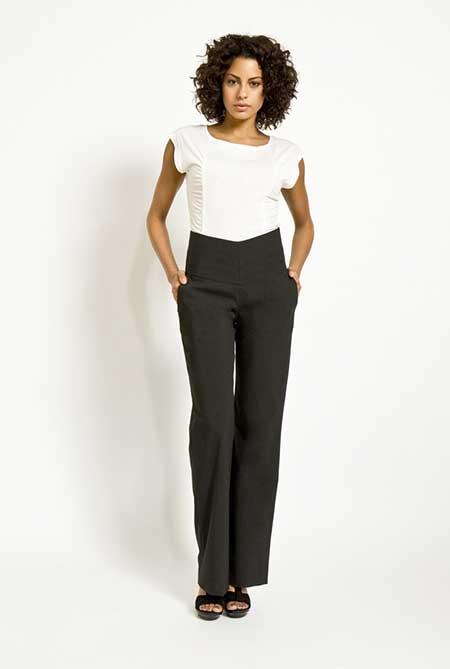 calças cintura alta