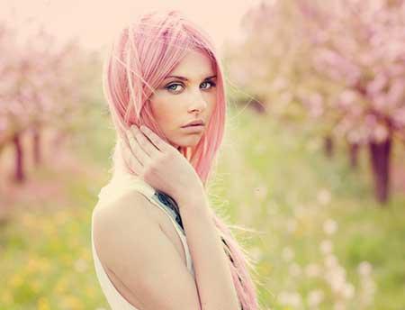 cabelos rosas