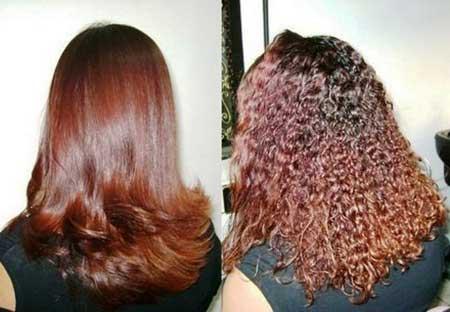 antes e depois de selagem capilar