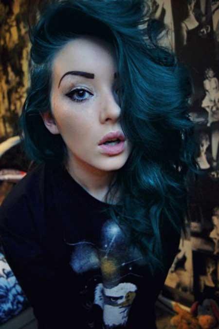 Cabelo Azul Feminino E Masculino Royal Turquesa Escuro