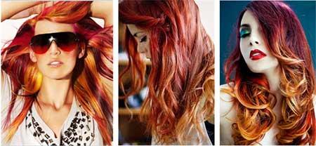 fotos de mechas coloridas