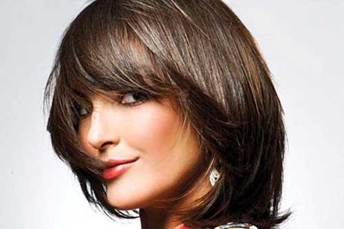 Cortes de cabelo para rosto redondo curto e repicados dos famosos