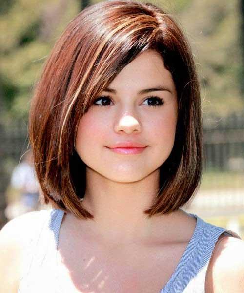 cortes de cabelo rosto redondo curto gomes