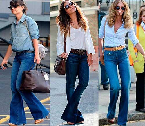 seleção de modelos de calças
