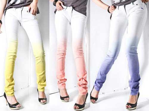 como usar calças coloridas