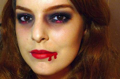 fotos de maquiagem de vampira