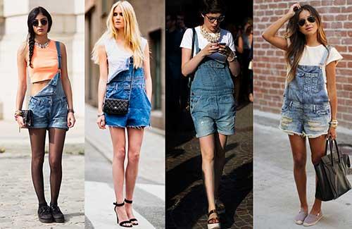 fotos de macaquinho jeans