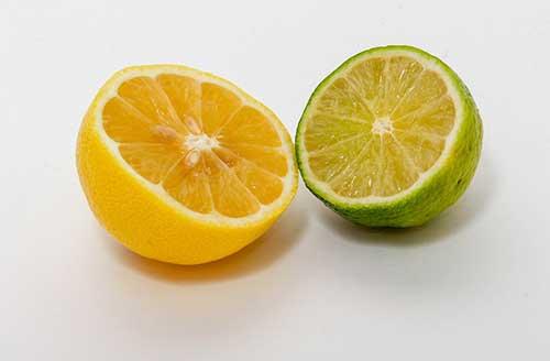 com limão e laranja